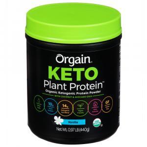 Orgain Organic Keto Plant Protein Powder Chocolate