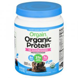 Orgain Organic Superfoods Protein Powder Chocolate Fudge
