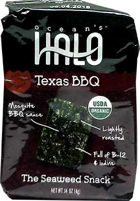 Ocean's Halo Organic Texas BBQ The Seaweed Snack