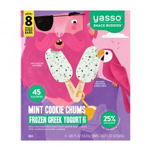 Yasso Frozen Greek Yogurt Bars Mint Cookie Chums