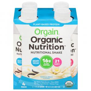 Orgain Organic Plant Base Vanilla Bean Shakes