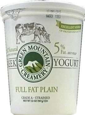 Green Mountain Creamery Greek Full Fat Plain Yogurt