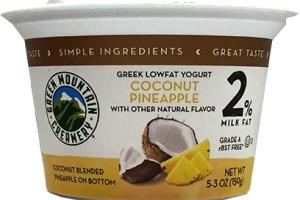 Green Mountain Creamery Greek Coconut Pineapple Yogurt 2%