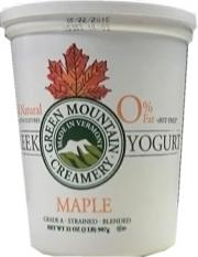 Green Mountain Creamery Maple 0% Fat Greek Yogurt