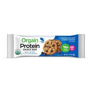 Orgain Protein Bar Chocolate Chip Cookie Dough