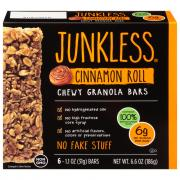 Junkless Chewy Granola Bars Cinnamon Roll