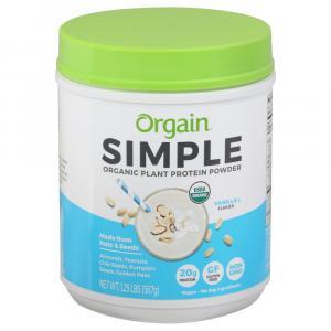 Orgain Simple Organic Plant Protein Powder Creamy Vanilla