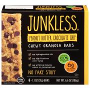Junkless Chewy Granola Bars Peanut Butter Chocolate Chip