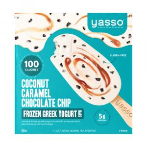 Yasso Greek Yogurt Coconut Caramel Chocolate Chip Bars