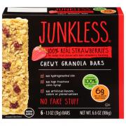 Junkless 100% Real Strawberries Chewy Granola Bars