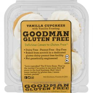 Goodman Gluten Free Vanilla Cupcakes with Vanilla Icing