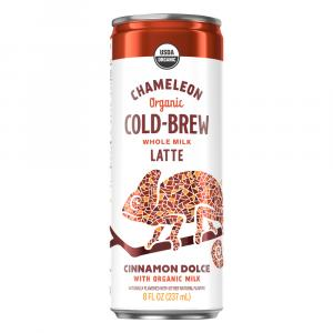 Chameleon Organic Cold-Brew Whole Milk Latte Cinnamon Dolce