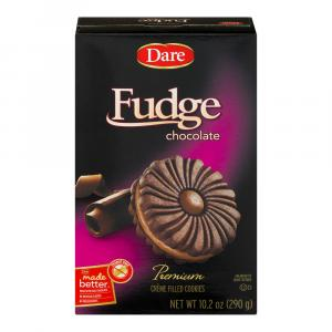 Dare Fudge Chocolate Creme Filled Cookies