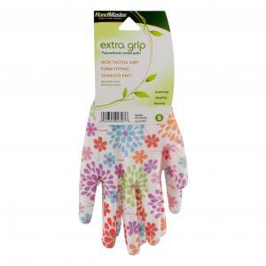 Handmaster Women's Polyurethane Coated Floral Small Gloves