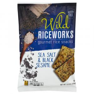 Wild Riceworks Sea Salt And Black Sesame