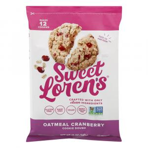 Sweet Loren's Gluten Free Oatmeal Cranberry Cookie Dough