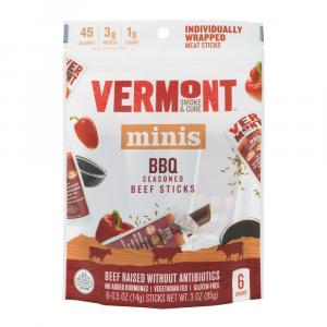 Vermont Smoke & Cure BBQ Seasoned Beef Sticks Minis