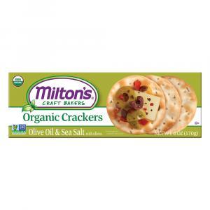 Milton's Organic Olive Oil & Sea Salt With Olives Crackers