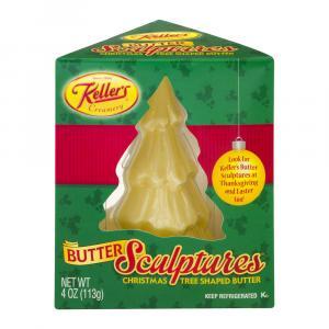 Keller's Christmas Tree Shaped Salted Butter Sculpture