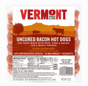 Vermont Smoke & Cure Uncured Bacon Hot Dogs