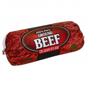 Ground Beef Chub 73% Lean/27% Fat