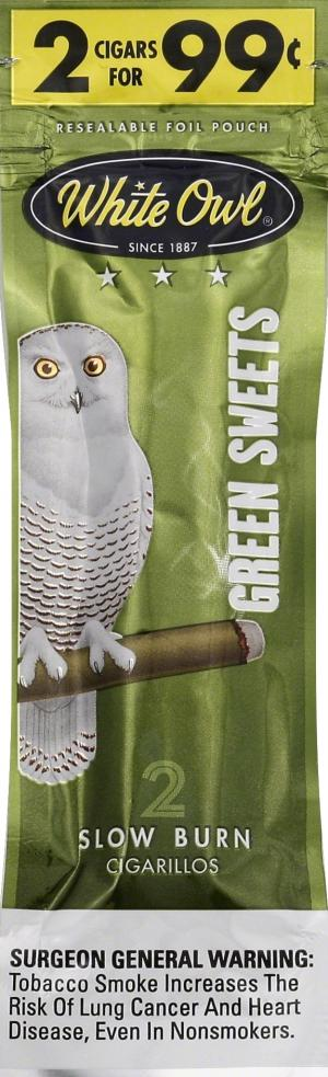 White Owl Foilfresh Cigarillos Green Sweets