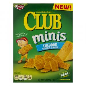 Keebler Minis Club Cheddar Crackers