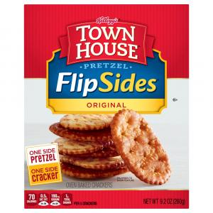 Keebler Town House FlipSides Pretzel Crackers Original