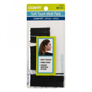 Conair Soft Touch Multi Pack Black Bobby Pins