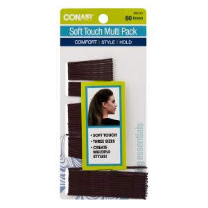 Conair Soft Touch Multi Pack Brown Bobby Pins