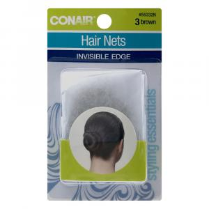 Conair Invisible Edge Brown Hair Nets