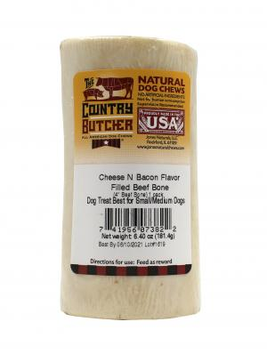 The Country Butcher Cheese N' Bacon Flavor Filled Beef Bone