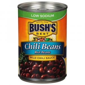 Bush's Best Low Sodium Red Chili Beans in Mild Chili Sauce