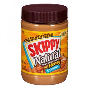 Skippy Natural Peanut Butter Spread with Honey Creamy