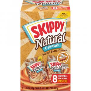 Skippy Natural Creamy Peanut Butter Individual Squeeze Pouch