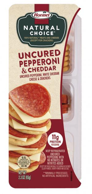Hormel Natural Choice Uncured Pepperoni & Cheddar Snack