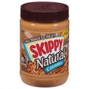 Skippy Natural Creamy Peanut Butter