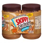Skippy Natural Peanut Butter Twin Pack