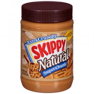 Skippy Extra Crunchy Natural Super Chunk Peanut Butter