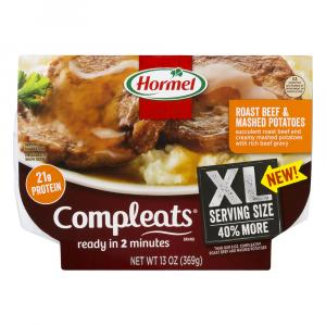 Hormel Xl Compleats Roast Beef And Mashed Potaoes