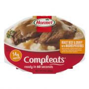 Hormel Compleats Roast Beef & Gravy with Mashed Potatoes