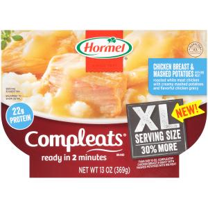 Hormel Xl Compleats Chicken And Mashed Potaoes