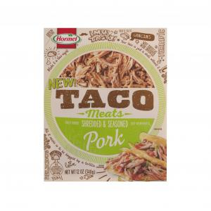 Hormel Taco Meats Fully Cooked Pork