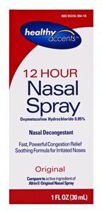 Healthy Accents Decongestant Nasal Spray