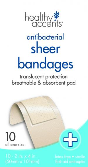 Healthy Accents Sheer Extra Large Adhesive Bandages
