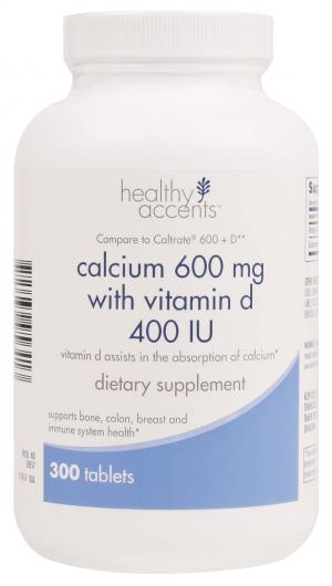 Healthy Accents Calcium-D 600 mg Tablets