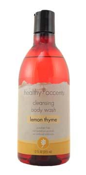 Healthy Accents Lemon Thyme Cleansing Body Wash