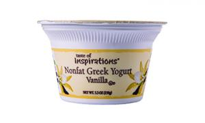 Taste Of Inspirations Nonfat Greek Yogurt Vanilla