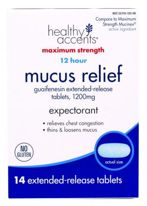 Healthy Accents Mucus Relief Extended Release Tablets