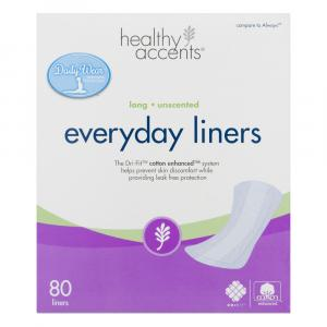 Healthy Accents Everyday Liners Long Unscented